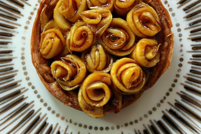 tarte pommes bouquet de roses2
