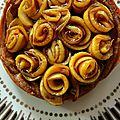 Tartelettes aux pommes façon bouquet de rose
