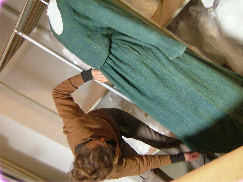Robe de femme enceinte, paysanne, XIXe