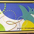 carte d'anniversaire garçon avec envol de dinosaure