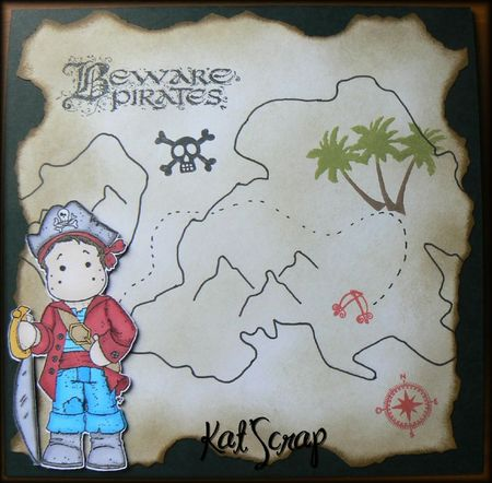 Carte pirate anniversaire de Milhane