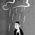 Il pleut doucement sur la ville