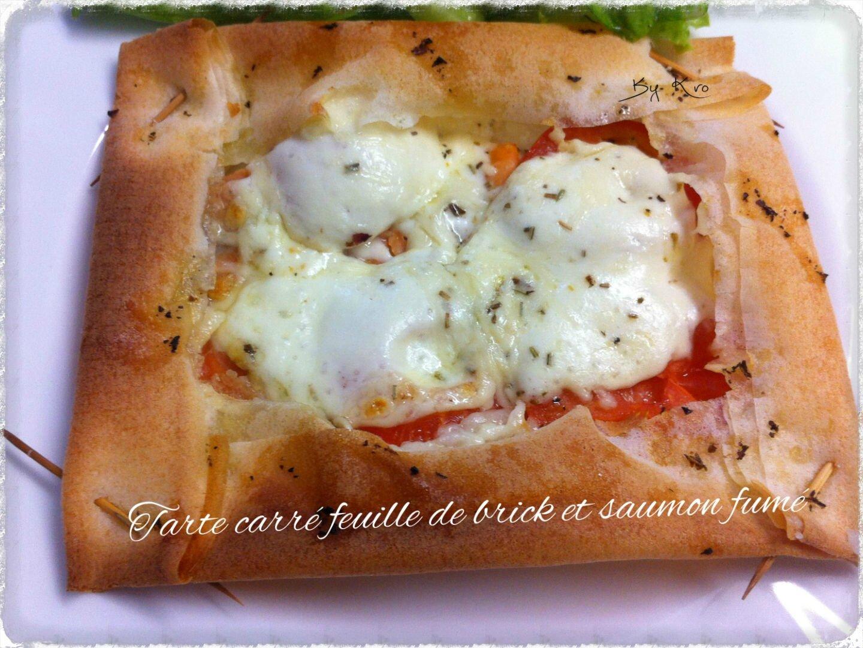 Tarte Carre Feuille De Brick Et Saumon Fume Recettes De Cuisine