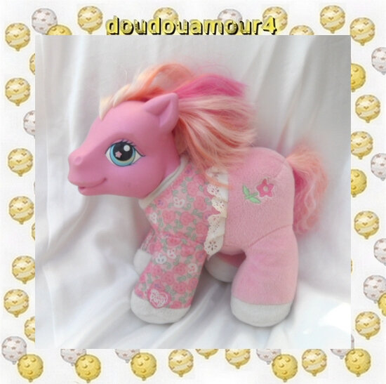 Peluche Doudou Poney Interactive Rose My Little Pony Pimkie Pie Hasbro