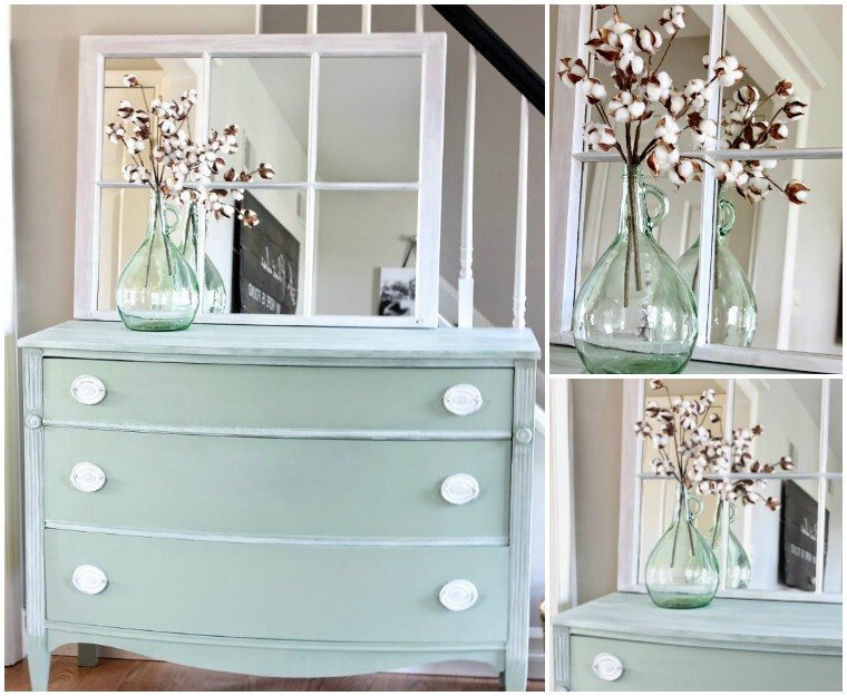 relooking-meubles-shabby-chic-idées-déco-armoire-rangeemnt-vert