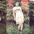 Organic tutu dress / robe tutu tissus biologiques