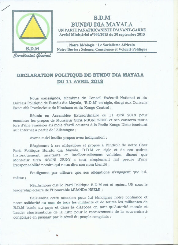PROCES VERBAL DE BDM KINSHASA SUR LE CAS DE SITA NSONI ZENO c