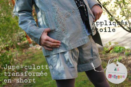 Relooking ensemble veste et jupe-culotte