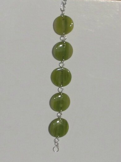 bracelet vert rond fimo transparent bis