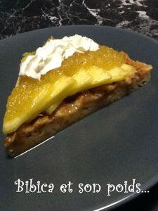 Gâteau à l'ananas part face