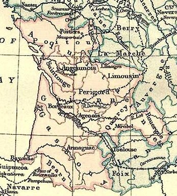 Guyenne en 1360