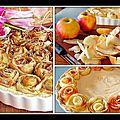 Tarte aux pommes en fleurs - idée déco
