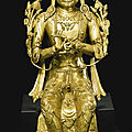 A gilt-bronze figure of maitreya, tibet, 16th-17th century