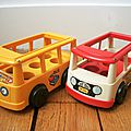 Bus School et Mini Bus - Fisher Price vintage