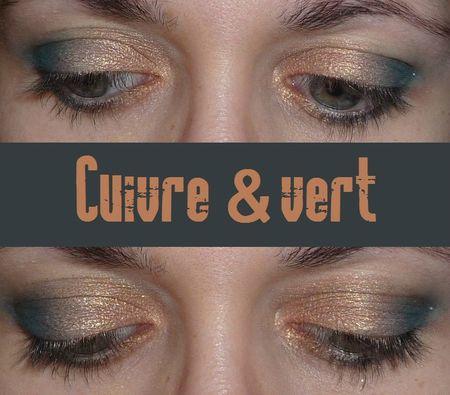 make up cuivre et vert