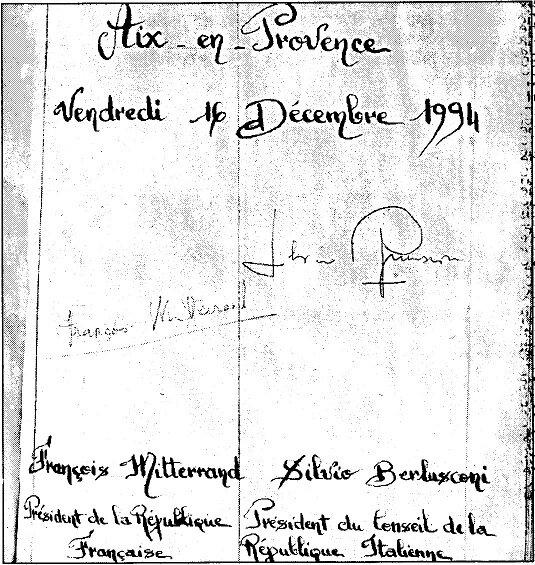 album LAC pers mitterrand signatures