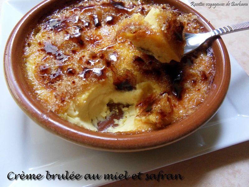 crème brulée au miel et safran1