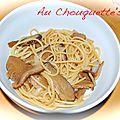 Nouilles sautées aux champignons shiitake