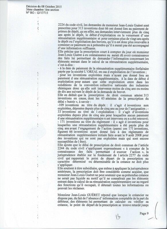 GUERET L'OREAL 9
