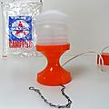 Vintage ... lampe camping orange * campelec