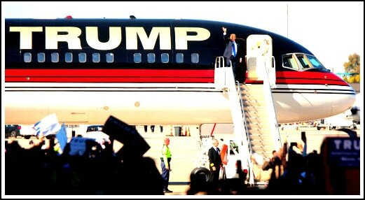 Trump avion de campagne