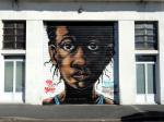 Bayonne, festival Street art Point de vue 2018, quai de Lesseps, ancien CCAS, par Deuz