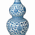 A Blue And White 'Lotus' Double-Gourd Vase, Ming Dynasty, Chenghua Period © Palace Museum, Beijing