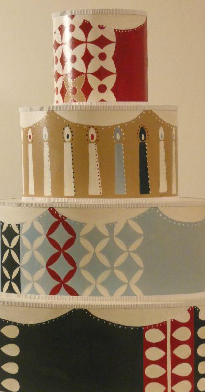 Détail, gâteau en carton, esprit scandinave