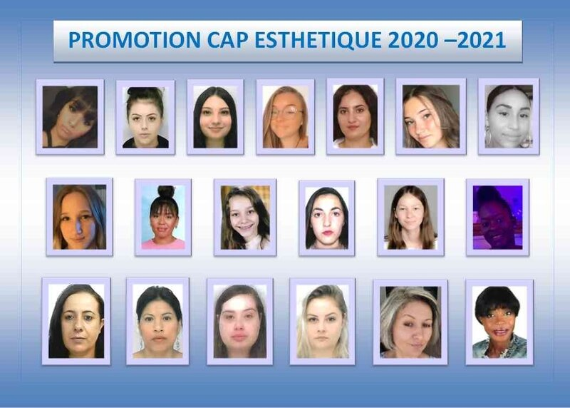 Photo de classe CAP ESTHETIQUE
