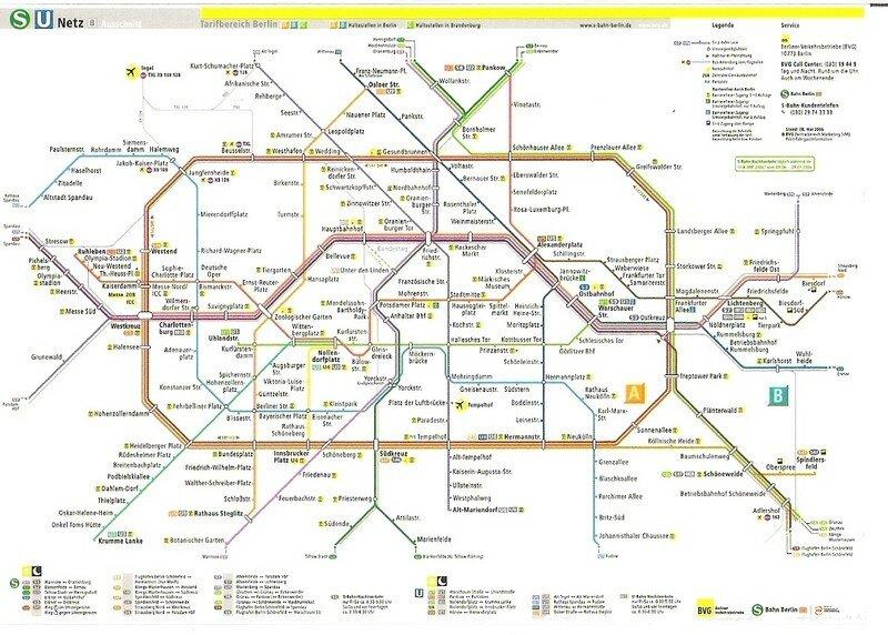 le plan du métro