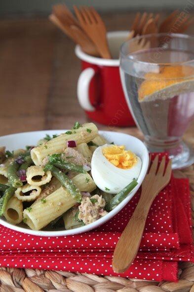 recette simple de salade de pates macaroni au thon vinaigrette originale 001 LE MIAM MIAM BLOG