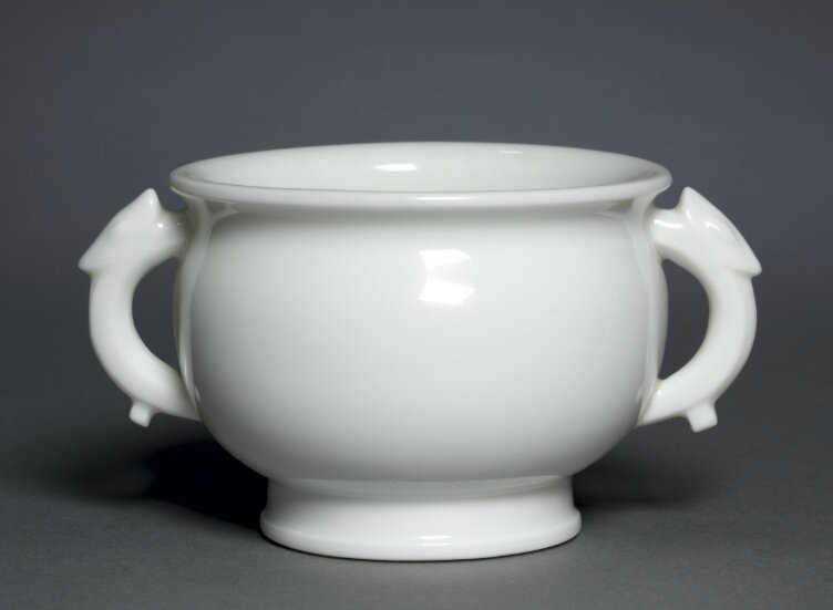 Bowl in Form of Archaic, Gu, Dehua Ware, 1600s, China, Fujian province, late Ming dynasty-early Qing dynasty