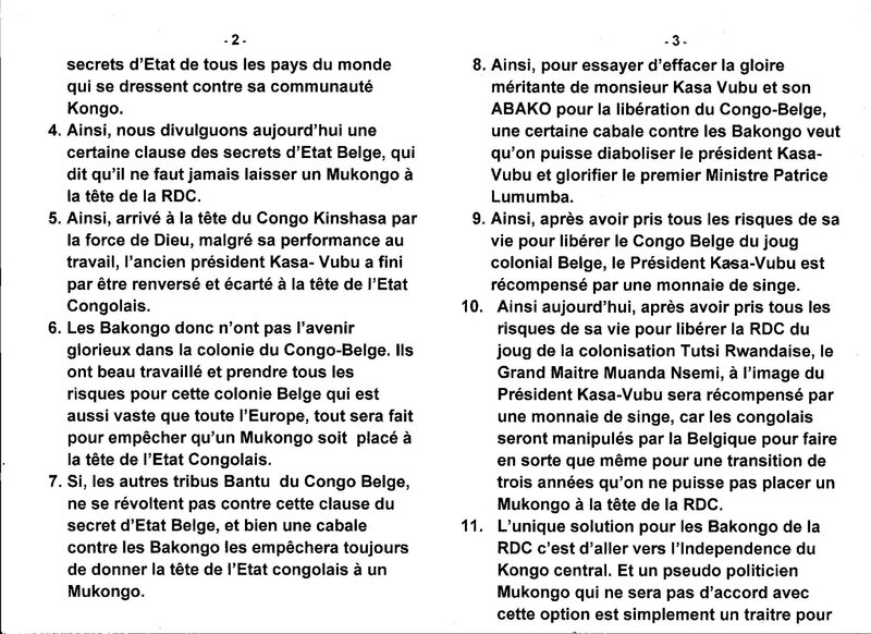 LE GRAND MAITRE MUANDA NSEMI DIVULGUE UNE CERTAINE CLAUSE DES SECRETS D'ETAT BELGE b