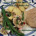 Escalopes de veau à la salade du marché