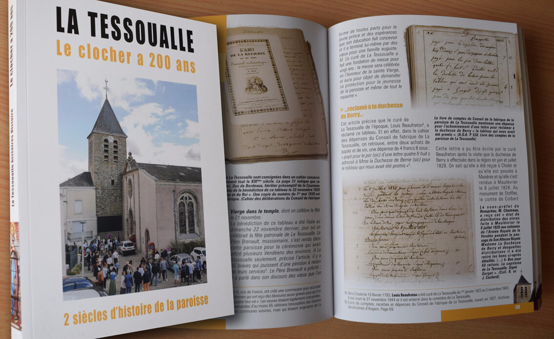 Le clocher de La Tessoualle a 200 ans
