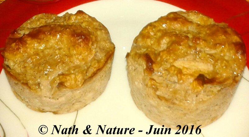 Muffins pomme-banane-cannelle aux flocons d'avoine - 2