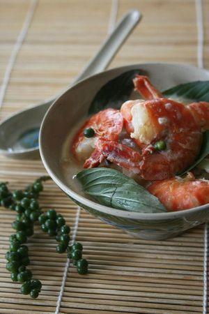 Curry vert de crevettes 3