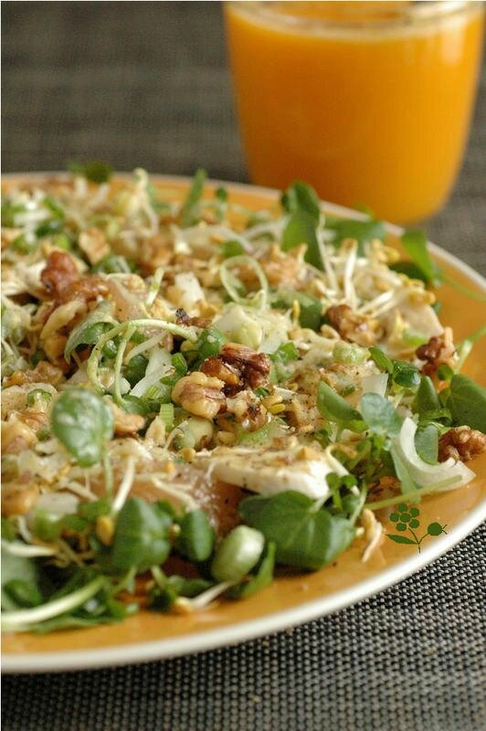 Salade cresson poulet