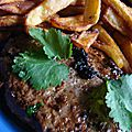 Maxi steaks haches a l'orientale