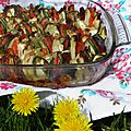 Plat complet : tian de légumes au chorizo