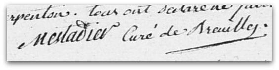 Mestadier signature z