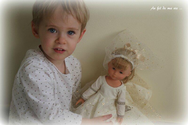 Vetement Corolle poupée robe princesse tunique (3)