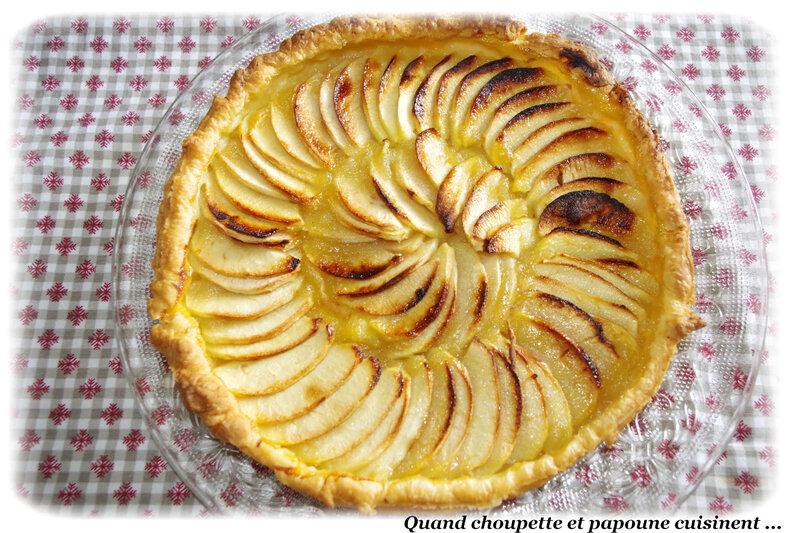 tarte à la compote de pommes et pommes-2309