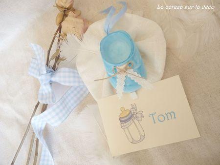baby shower chausson bébé plaque porte b&l 3