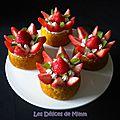 Petits gâteaux fraises et chantilly