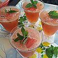 Cocktail pastèque-melon façon mojito