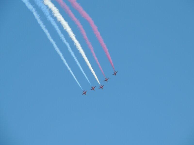 Patrouille du Royaume-Uni Red Arrows de la Royale Air Force (6)