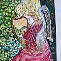 Ange de la Vierge au Buisson de rose 1 - création ©Marimerveille