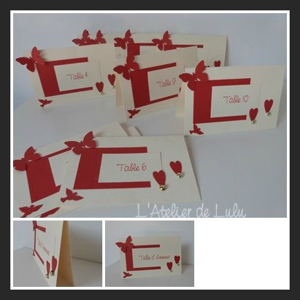 marque table mariage papillons colombe
