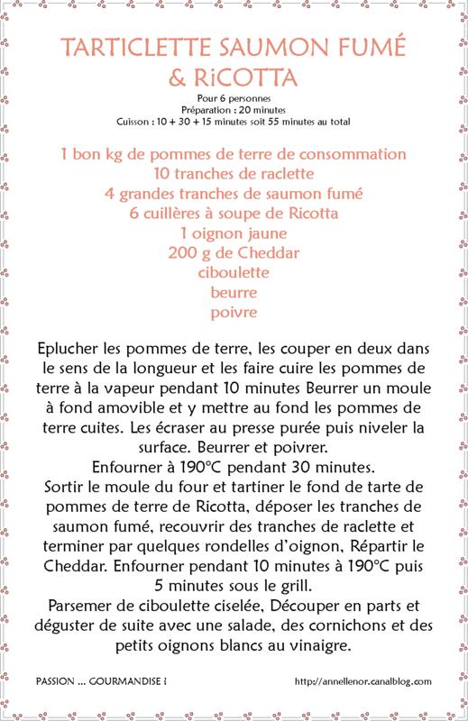 Tarticlette saumon fumé & Ricotta_fiche